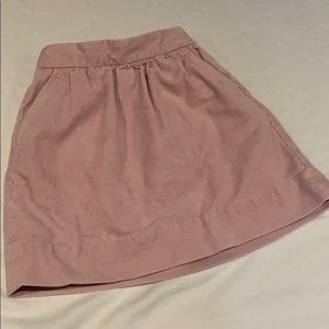 Pink corduroy pocket skirt girls size 8